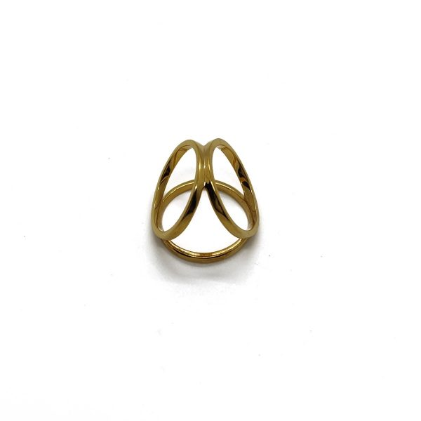 Gold Plated Three Angle Ring