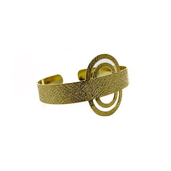 Brass Plain Infinity Design Cuff Bangle