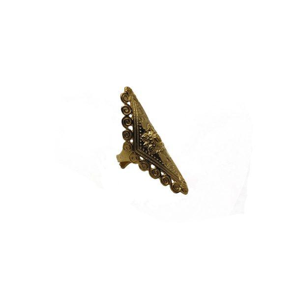 Plain Brass Hammered Ring