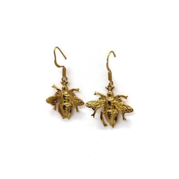 Big Golden Butterfly Brass Butterfly Oxidized Earring
