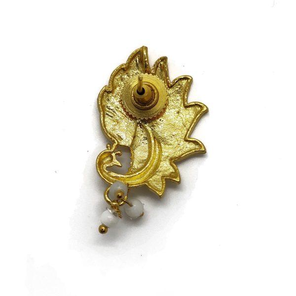 Gold Vermeil Peacock Earring