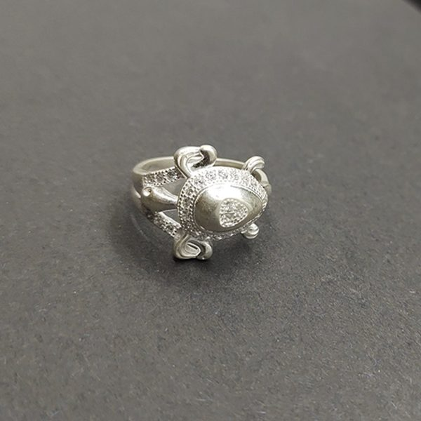 Frog Silver Ring, Solid Sterling Silver Sing,