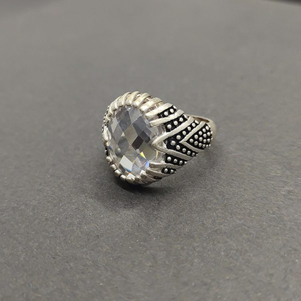 Stone Oval Shape Ring