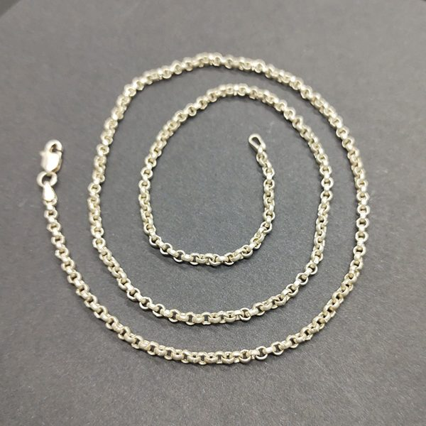 Solid 925 Sterling Silver Cut ROPE CHAIN Necklace Made in India 24 inch – Great Gift! Brilliant Luster! Gift For Her