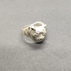 Kitty Cat Ring In Solid Sterling Silver Pet Cat Ring Cat Jewelry Silver Cat Ring Sterling Silver Ring, Minimalist Jewelry, Unique Gift Ring