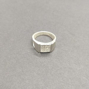 Stone Mens silver ring